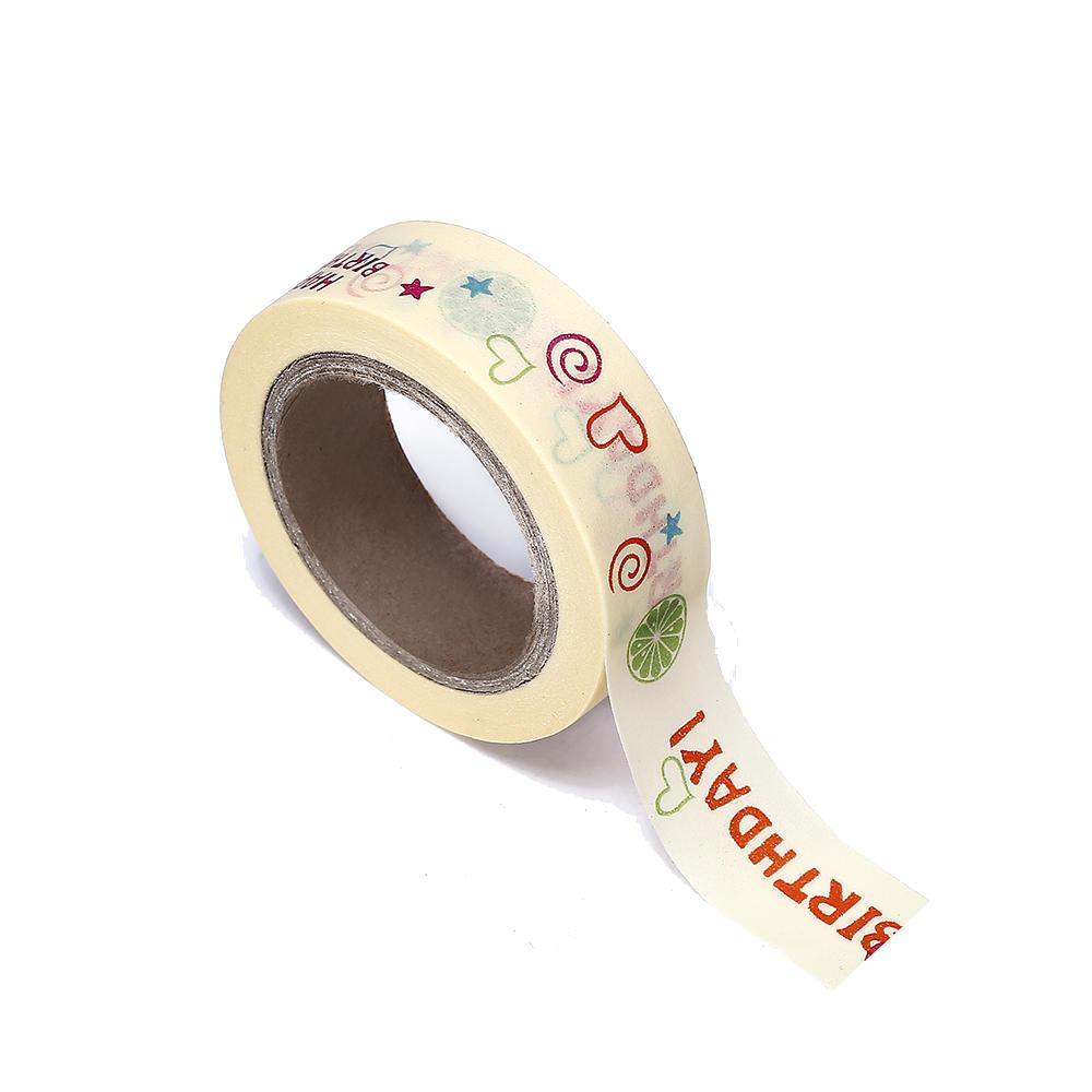 LIVINGbasics™ Washi Tape Happy Birthday 15mmX10m 1Pcs - image 2 of 2