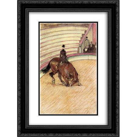 Henri de Toulouse Lautrec 2x Matted 18x24 Black Ornate Framed Art Print