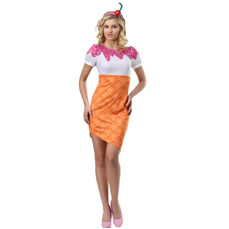 Women's Ice Cream Cone Costume](Safety Cone Costume)