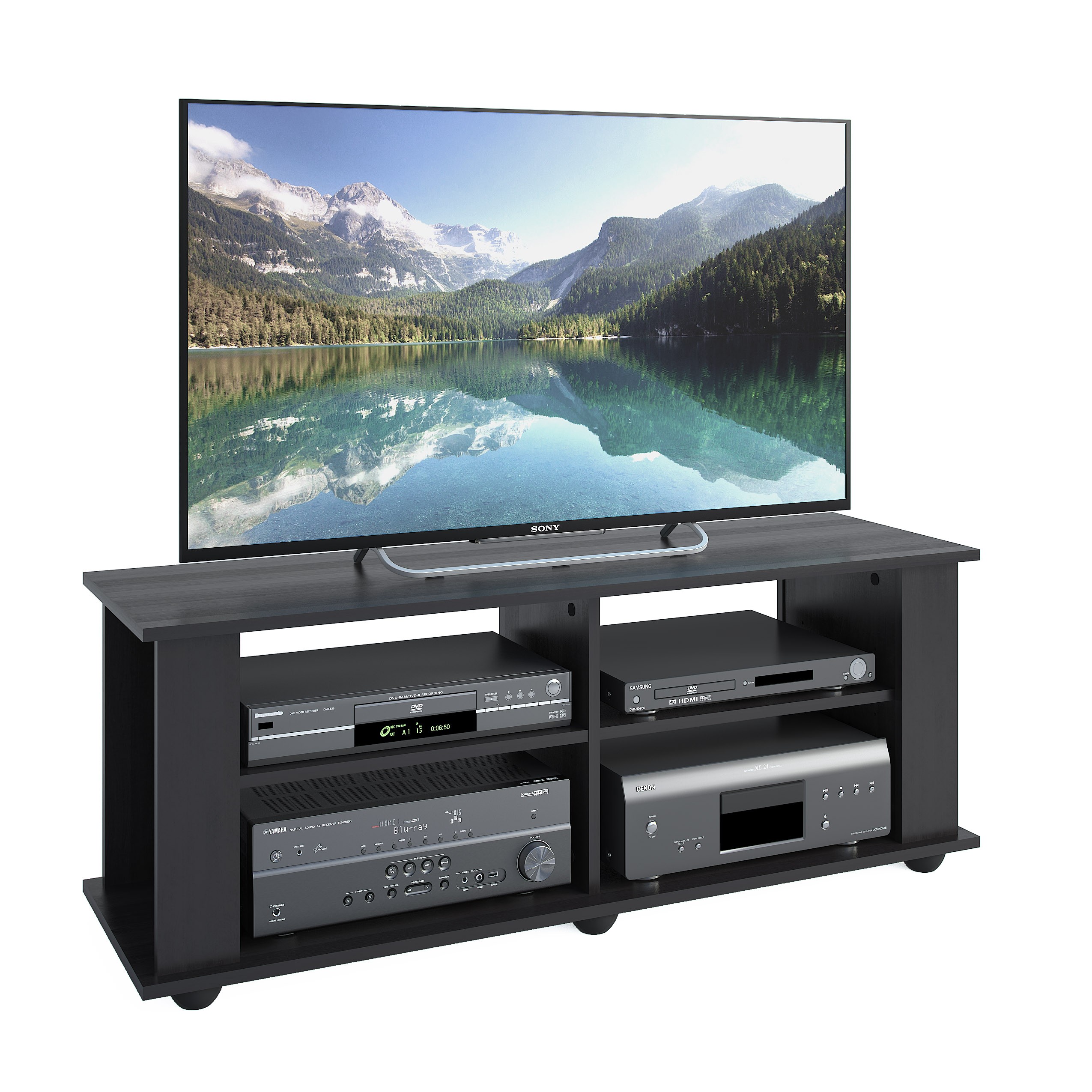 "CorLiving Fillmore TV Stand for TVs up to 57"",  Ravenwood Black"