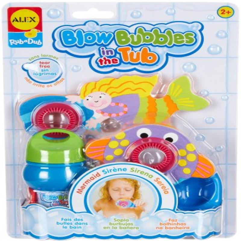 ALEX Toys Rub a Dub Blow Bubbles in the Tub Mermaid