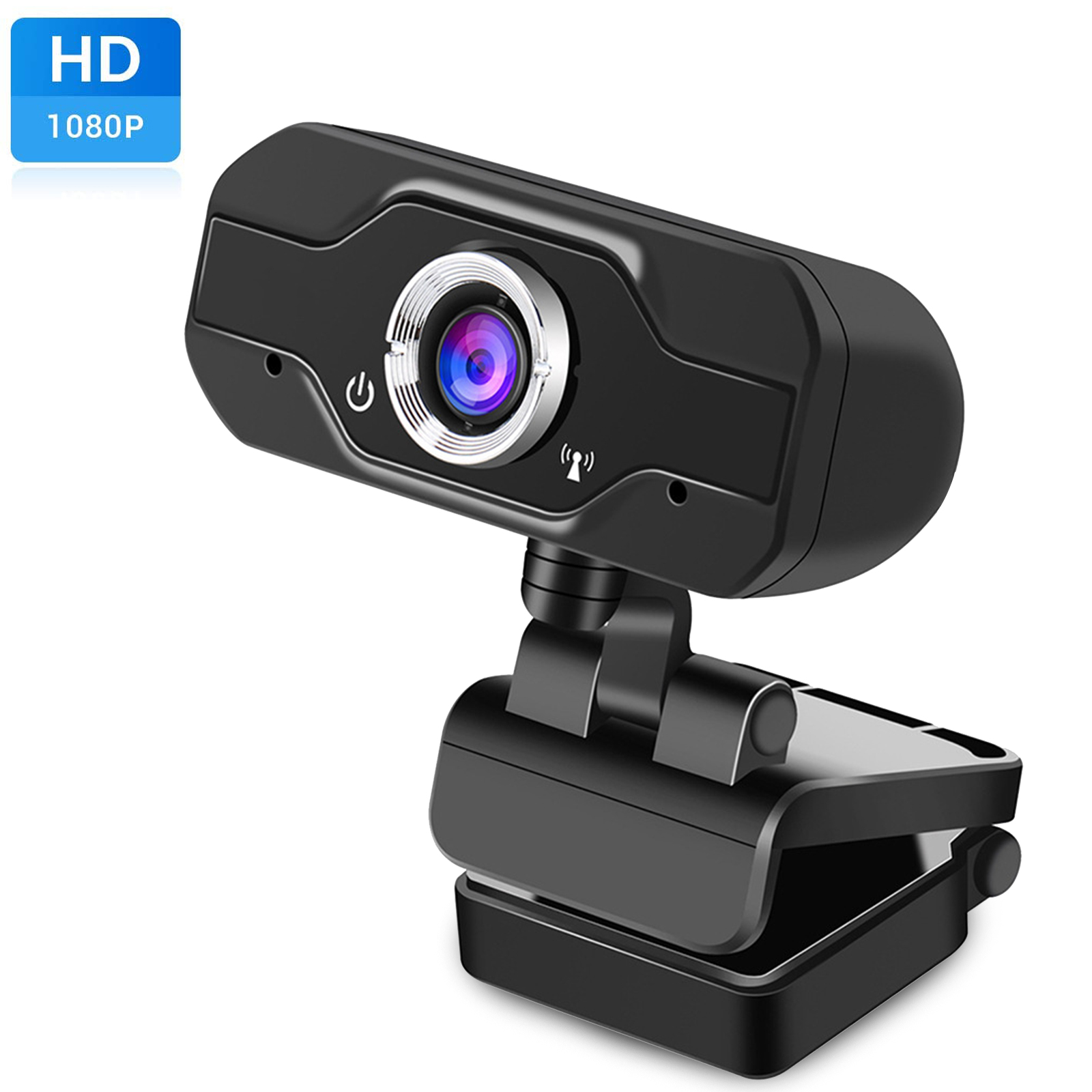 Wide Angle Web Camera with Microphone HD Face Cam for Streaming USB External Camera for Computer Monitor MacBook PC Laptop Desktop Webcam 1080p