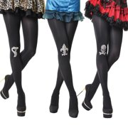 NEW Womens Assorted Colors Cotton Opaque Jewel Patch Tights (3 Pack)