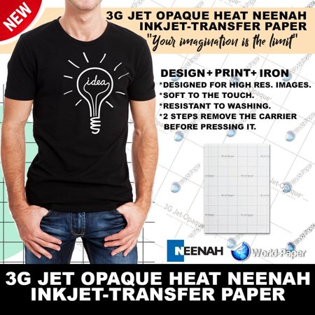 3G Jet Opaque Heat Transfer Paper 8.5 x 11 (5 sheets) *SAMPLE PACK* By Neenah From