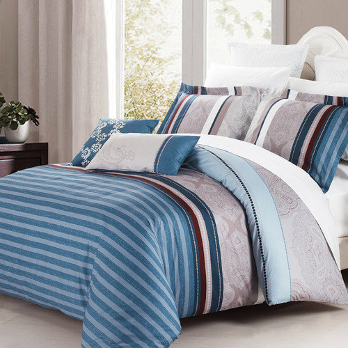 North Home Brooks 3 Piece Duvet Cover Set