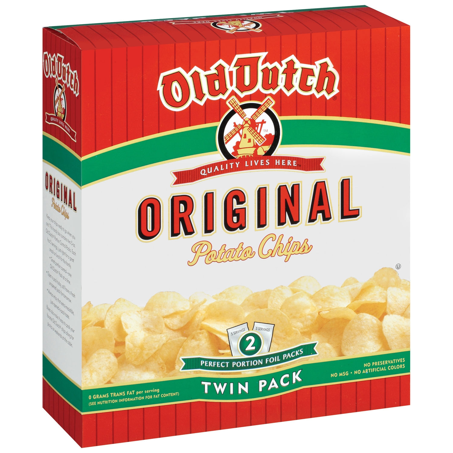 Old Dutch Original Twin Pack Potato Chips 10 oz. Box