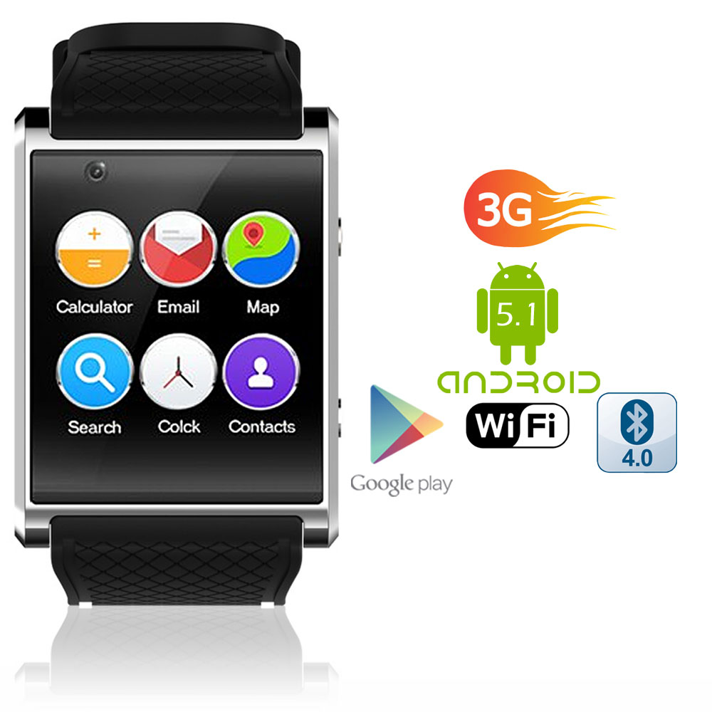 1.54-inch AMOLED Android 5.1 SmartWatch (QuadCore CPU + GPS + WiFi + Google Play Store + Camera)