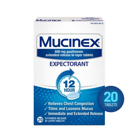 Mucinex 12-Hour Chest Congestion Expectorant Tablets, 20 (Best Tea For Congestion)