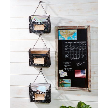 Set of 3 Hanging Metal File Organizers - ()