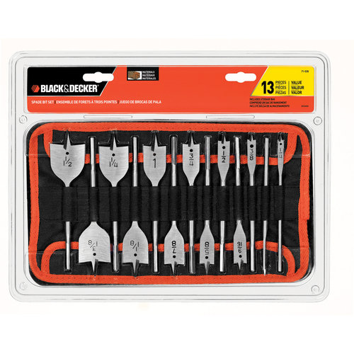 Black & Decker Spade Bit Set, 13pc