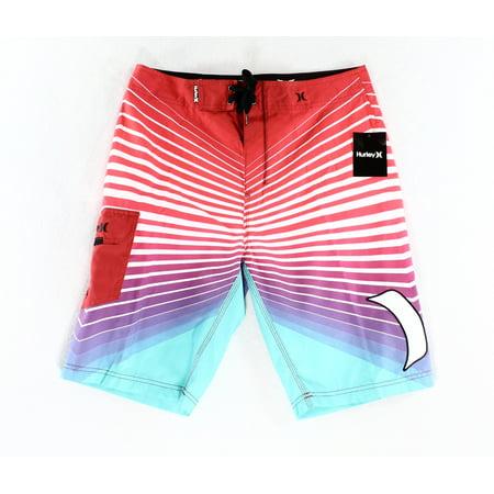 017a162eb9 Hurley - Hurley NEW Red Blue Mens Size 33 Striped Drawstring Board Shorts -  Walmart.com
