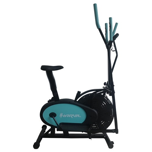 Harvil Elliptical Trainer 2-in-1 Exercise Bike with Pulse Rate Sensors
