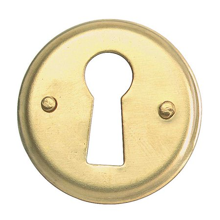 Escutcheon Solid Brass Keyhole Cover - Brass Keyhole Cover