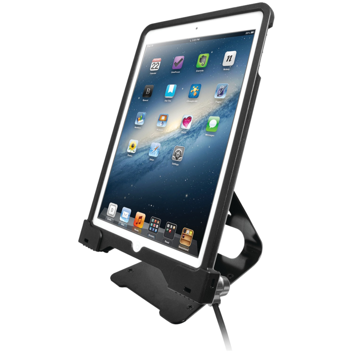 CTA Digital PAD-ASCS Antitheft Security Case with Stand for iPad Air 2/iPad Air