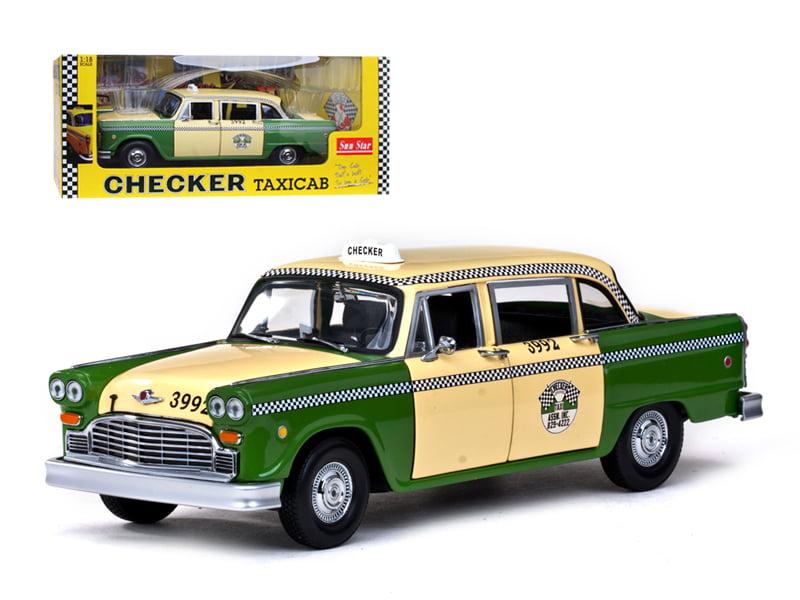 """Brekina 58922 # Checker-CabTaxi in grün-beige /"""" Chicago City /"""" 1:87 Drummer !!"""