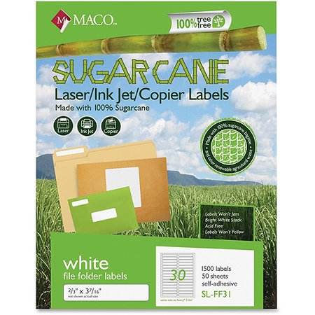 maco laser and inkjet labels template - maco printable sugarcane file folder labels 1500 per box