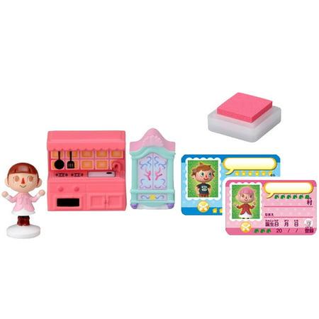 Takaratomy Animal Crossing New Leaf Girl and The Furniture Figure Stamp Set - Animal Crossing Qr Codes Halloween