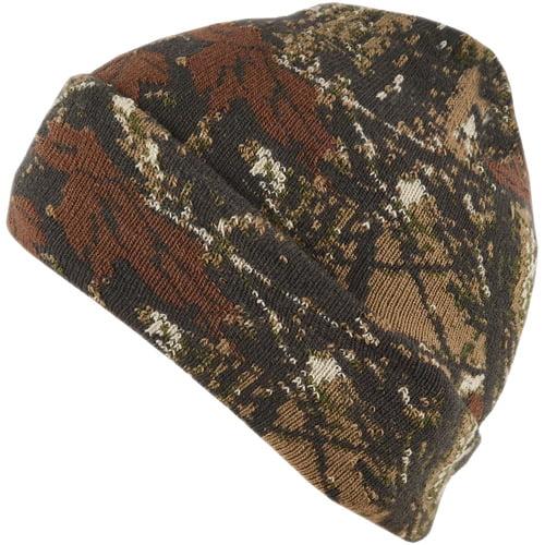 QuietWear Digital Knit Camo Cuff Cap, Adventure Brown by Reliable Headwear