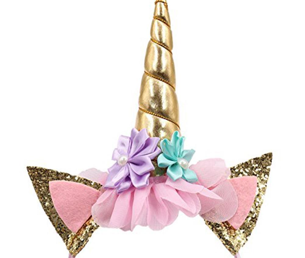 Unicorn Horn Party Baby Hair Headband Hairband Cosplay Decor Headwear Special