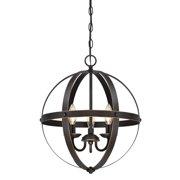 "Westinghouse 6341800 Stella Mira 3 Light 15-11/20"" Wide Wrought Iron Chandelier - Bronze"