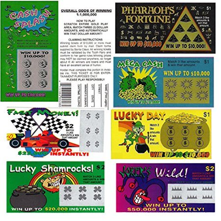 Jokes & Gags Fake Lottery Tickets (Pack of 3), Superman Kryptonite Crystal Shard with Glow Sticks By Ruksikhao