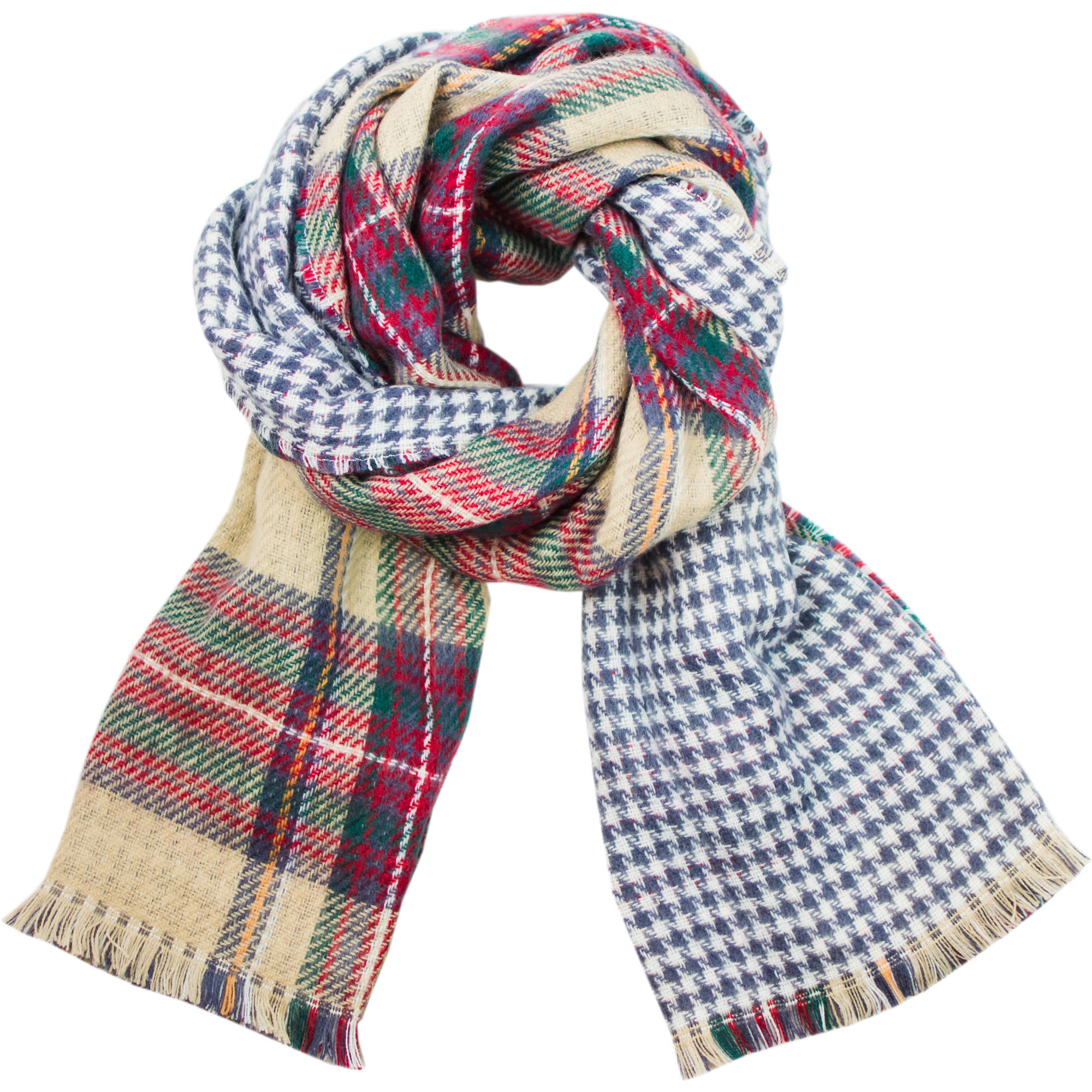 Faded Glory Women's Oversized Reversible Plaid Scarf