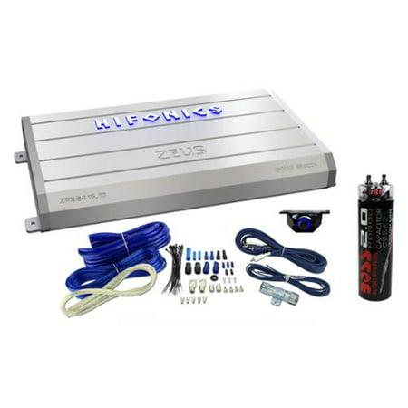 Hifonics Zeus 2400 Watt Mono Class D Car Amplifier + Knob + Wiring Kit + Cap
