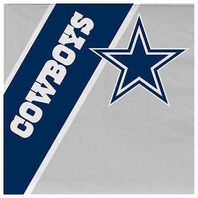 Dallas Cowboys Disposable Napkins (Cowboy Napkins)