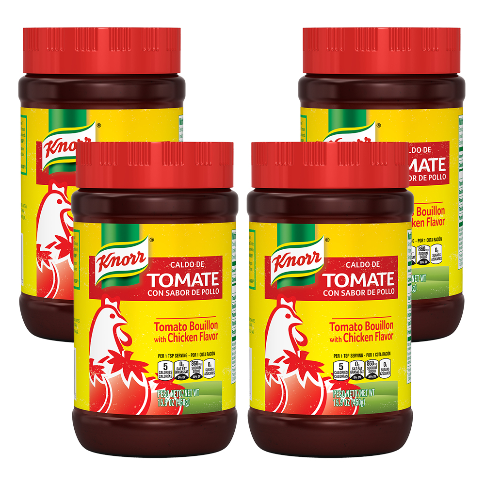 (4 Pack) Knorr Granulated Bouillon Tomato Chicken 15.9 oz