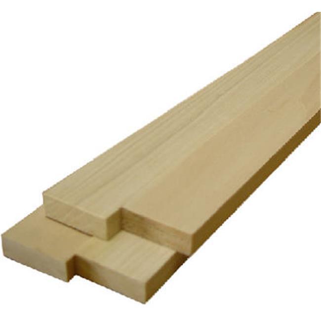 """Thunderbird Forest Poplar Board 1/2 """" X 2 """" X 2 ' Poplar"""