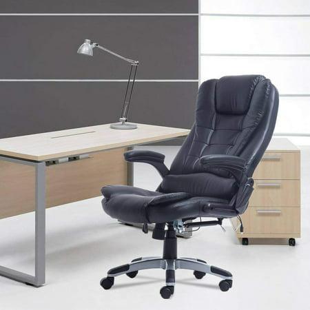 Heated Vibrating Massage Chair With 6 Wireless Massage
