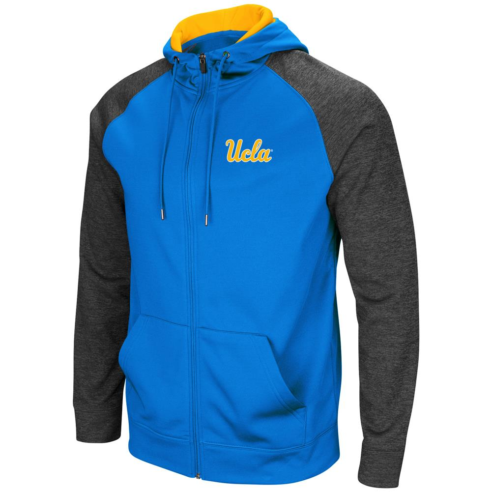 UCLA Bruins Men's Full ZipHoodie Fleece Jacket by Colosseum