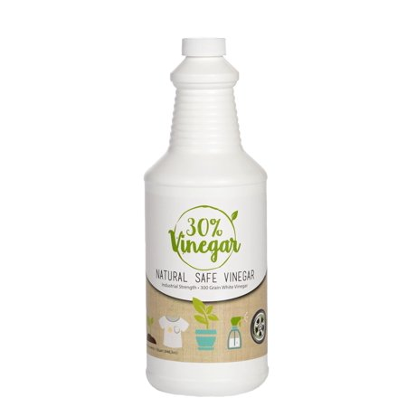 30% Vinegar Concentrate - 300 Grain White Vinegar - 1 Quart of Natural and Safe Multi-Use Concentrated Industrial Vinegar