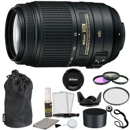 Nikon AF-S DX NIKKOR 55-300mm f/4.5-5.6G ED VR Lens + 58mm Filters +