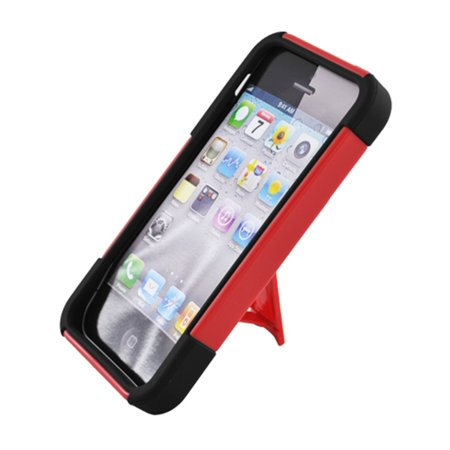Insten Hard Hybrid Plastic Silicone Case with stand for iPhone
