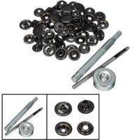 15 Set Metal Press Stud Snap Button Popper 15mm Fastener Sewing + 3 Fixing Tool