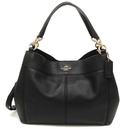 Coach - NEW COACH (F23537) BLACK SMALL LEXY PEBBLED LEATHER SHOULDER BAG  HANDBAG PURSE - Walmart.com e74eb2d98da15