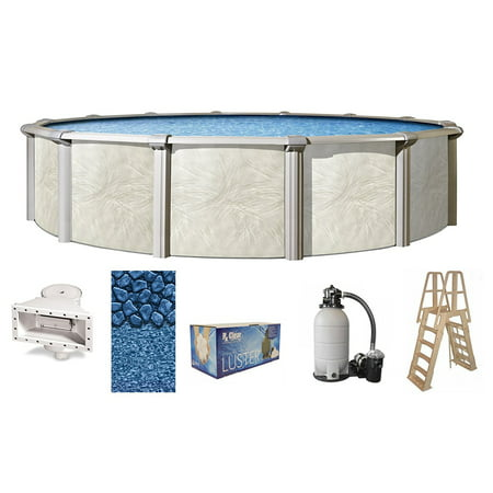15' Fallston Round Above-Ground Swimming Pools | Full Start-Up Kit {Choose Size}