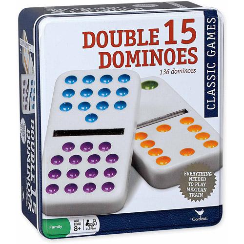 Double Fifteen Color-Dot Dominoes