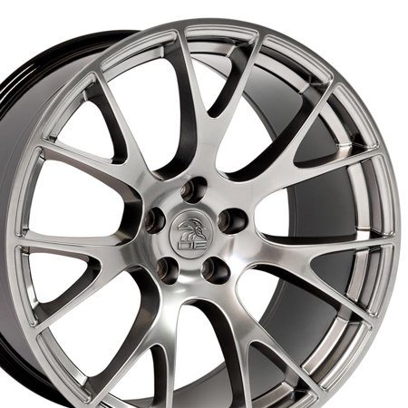 20x10 Wheel Fits Dodge, Chrysler - Hellcat Style Hyper Black Rim, Hollander