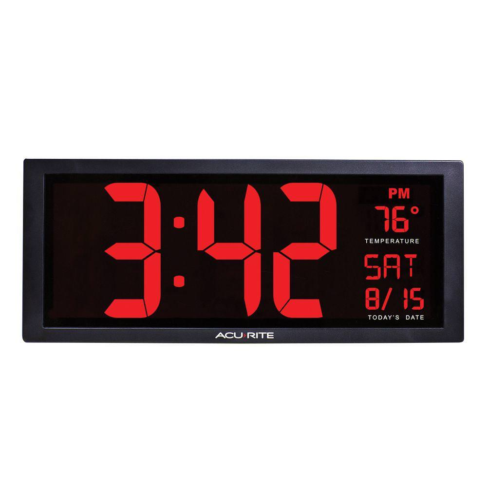14.5-inch Large Digital Clock with Indoor Temperature by Chaney Instrument Co