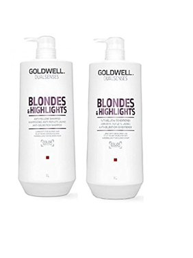 Goldwell Dualsenses Blonde And Highlights Anti-Yellow Shampoo & Conditioner Duo Set