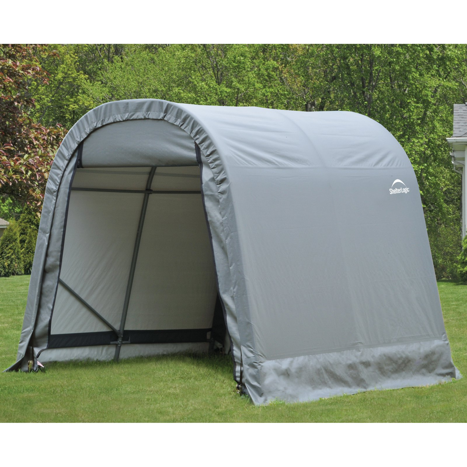 8' x 8' x 8' Round Style Shelter, Gray