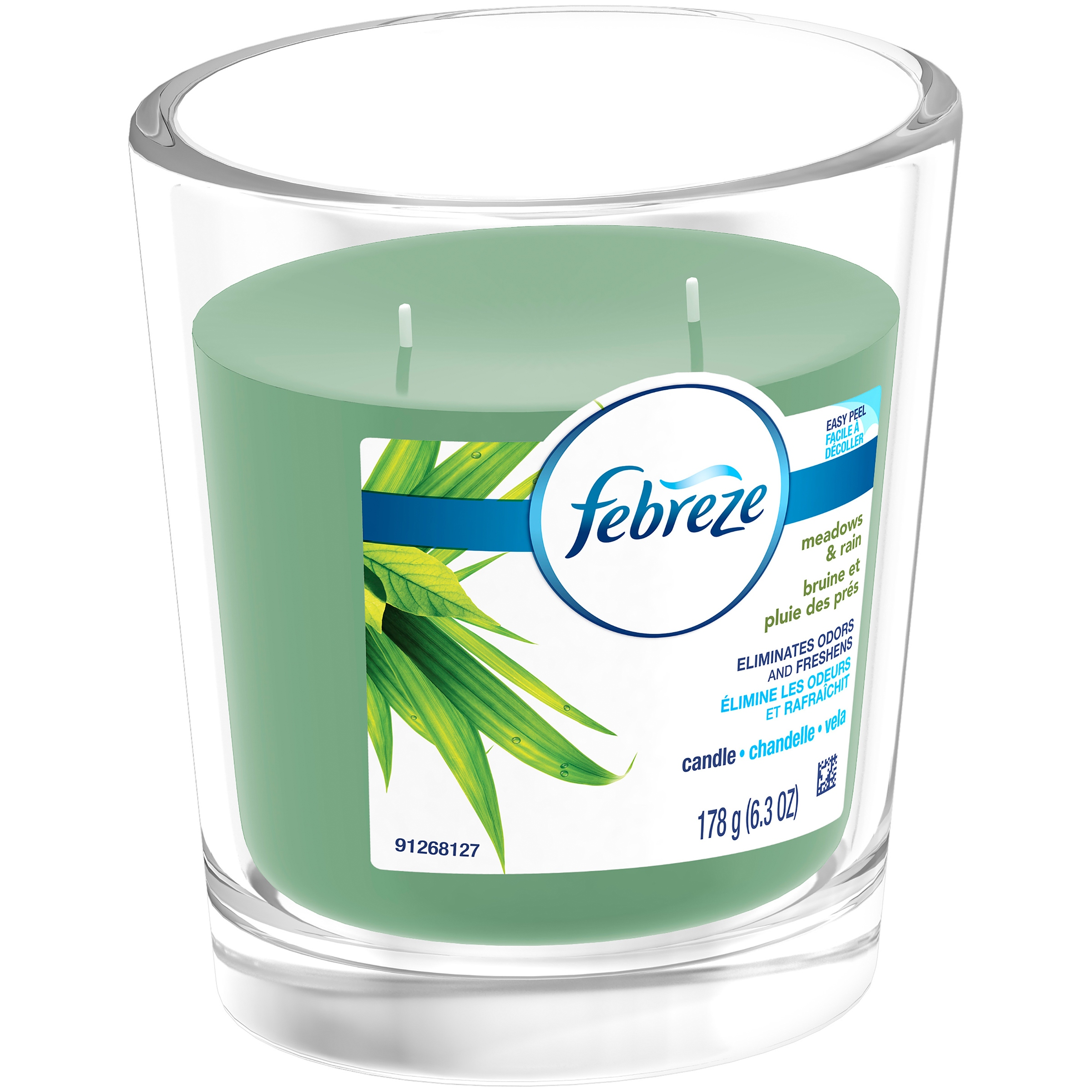 Febreze Candle, Meadows & Rain, 6.3 Oz