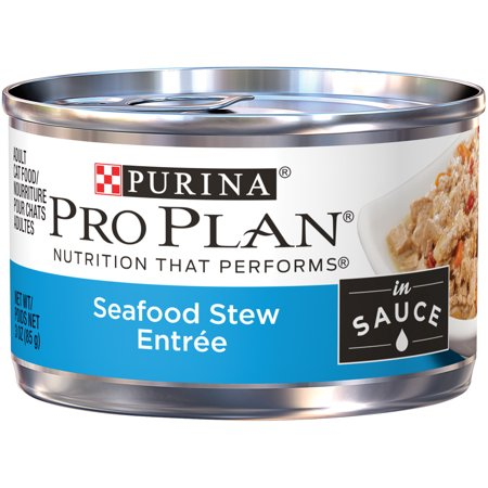 Purina Pro Plan Seafood Stew Entree in Sauce Adult Wet Cat Food - (24) 3 oz. Pull-Top - Halloween Entrees For Adults
