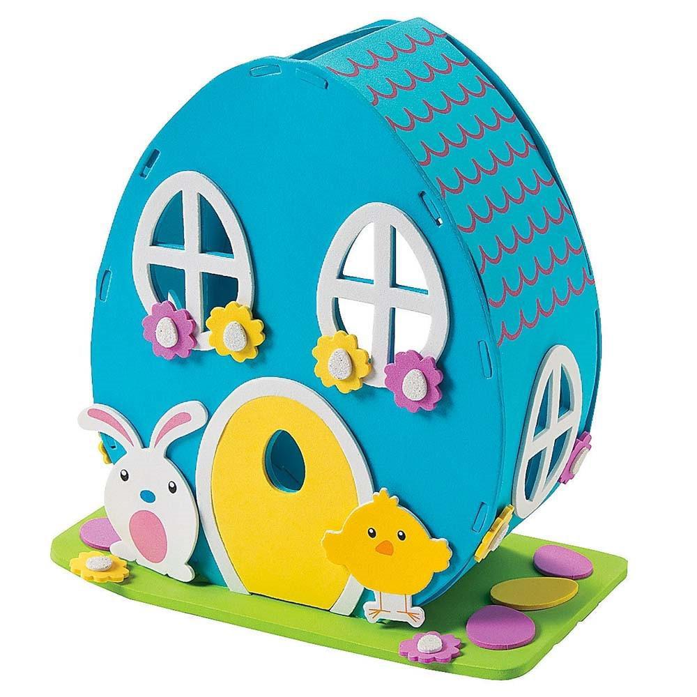 "8"" Easter Bunny Foam House DIY Easter Craft Kit"