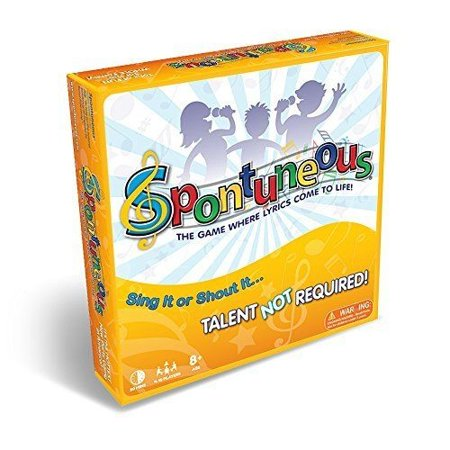 Spontuneous - The Song Game - Sing It or Shout It - Talent NOT Required (Best Family / Party Board Games for Kids, Teens, Adults - Boy & Girls Ages 8 & Up) - Skylanders Boy And Girl Game