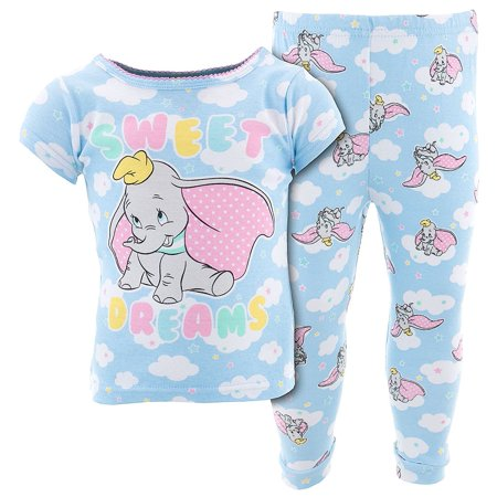 060b8c965 AME Sleepwear - Disney Baby Girls  Dumbo Sweet Dreams Cotton Pajamas ...
