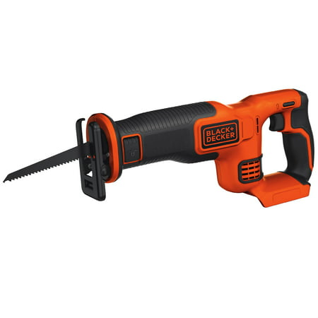 - BLACK+DECKER 20V Max Cordless Lithium Reciprocating Saw, Bare Tool, BdCR20B