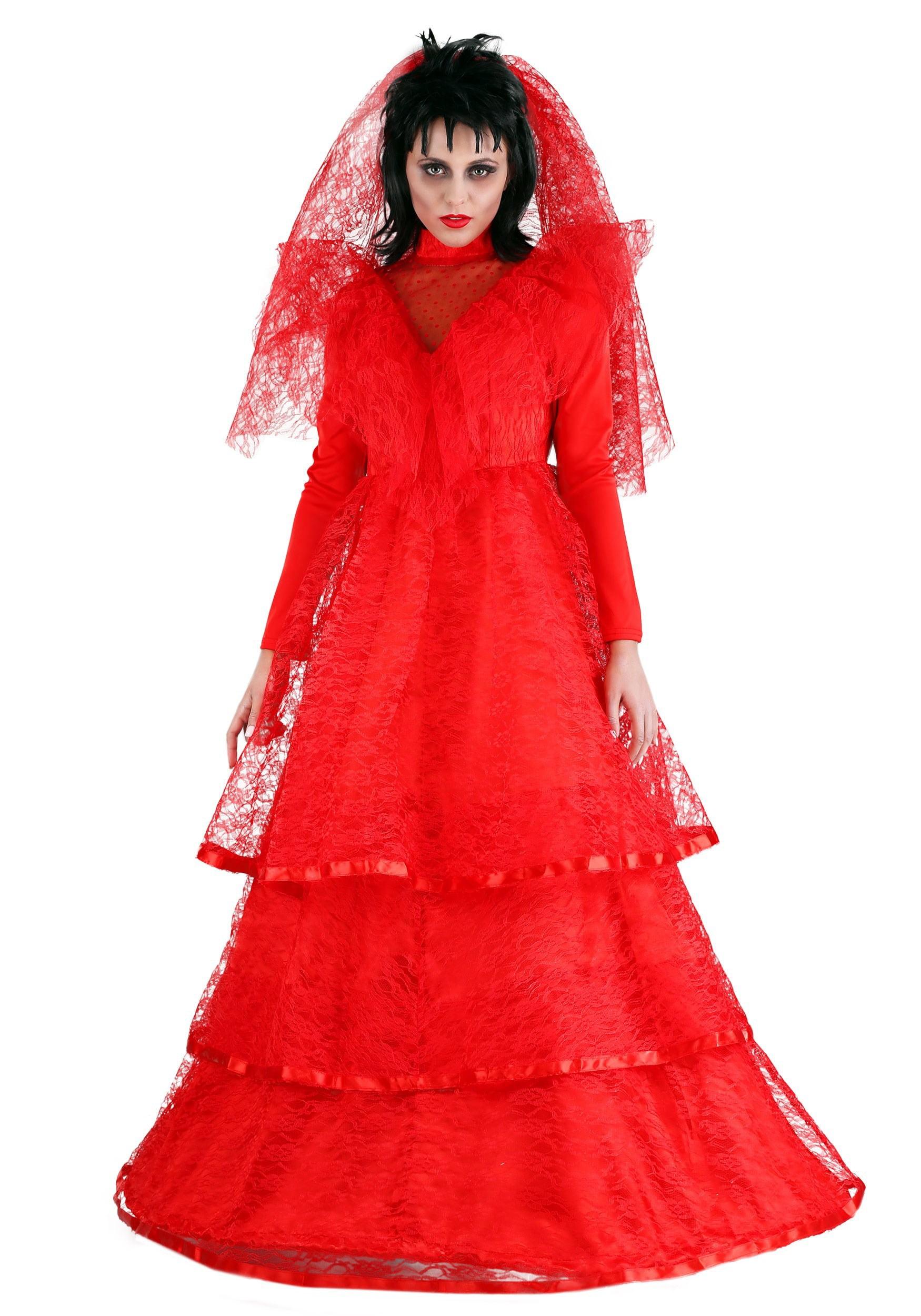 Fun Costumes Plus Size Red Gothic Wedding Dress Walmart Com